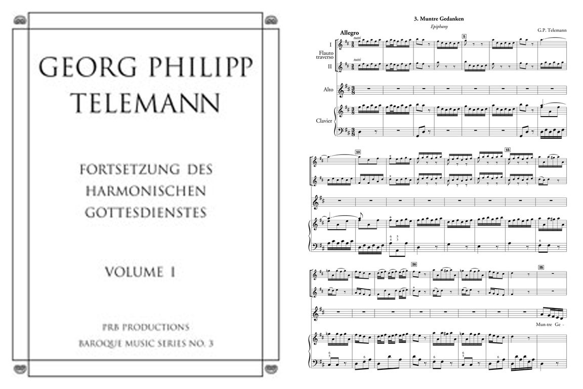 Volume 1 (voice, Fl. & another instr.), 8 cantatas