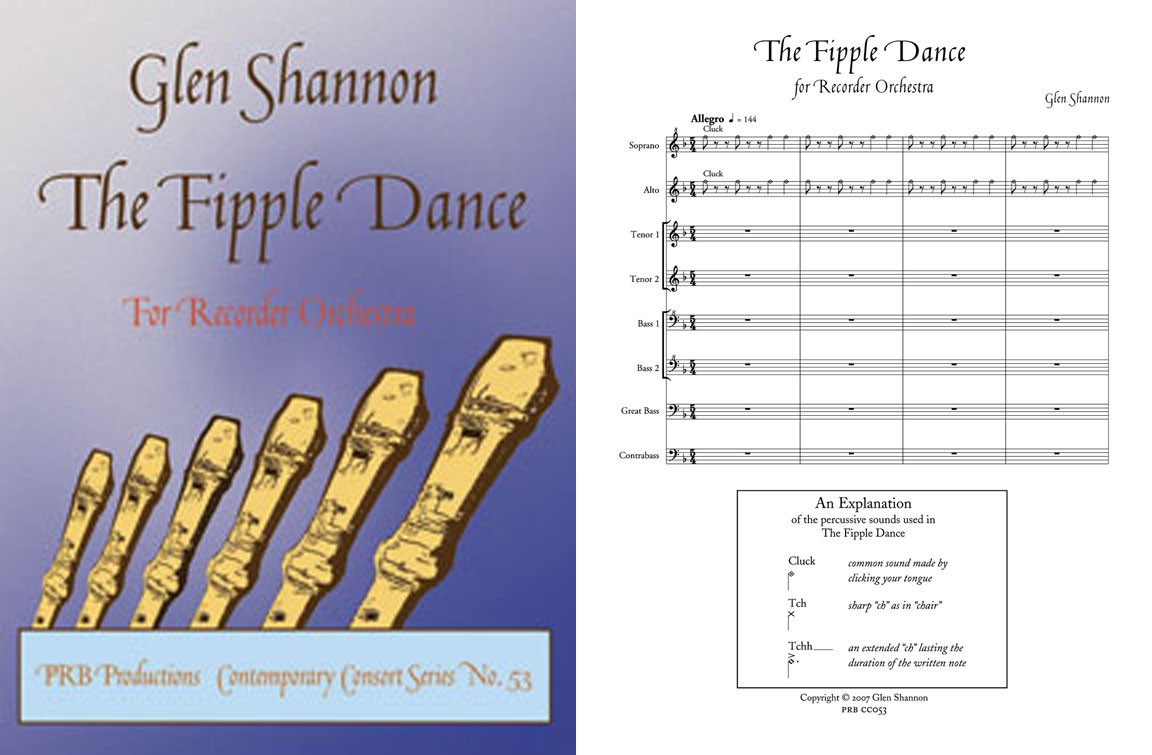 The Fipple Dance, for Recorder Orchestra