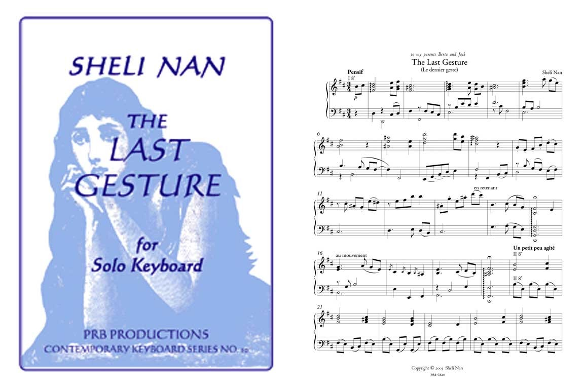 The Last Gesture, for solo harpsichord: