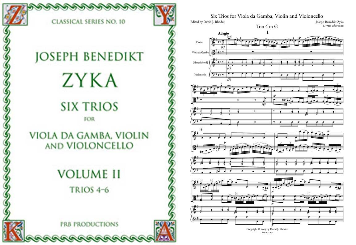 CL010: Zyka, 6 Trios for Viol, VIolin, Cello Vol 2