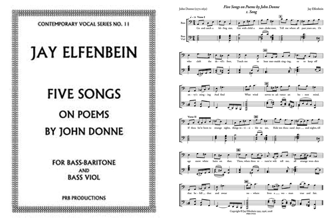 Five Songs on Poems by John Donne (Bass&BViol)