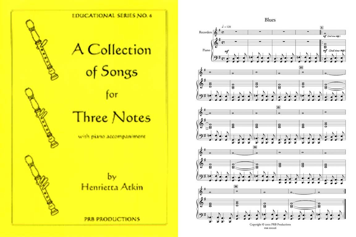 A Collection of Songs for Three Notes, Sc & 1 Pt.