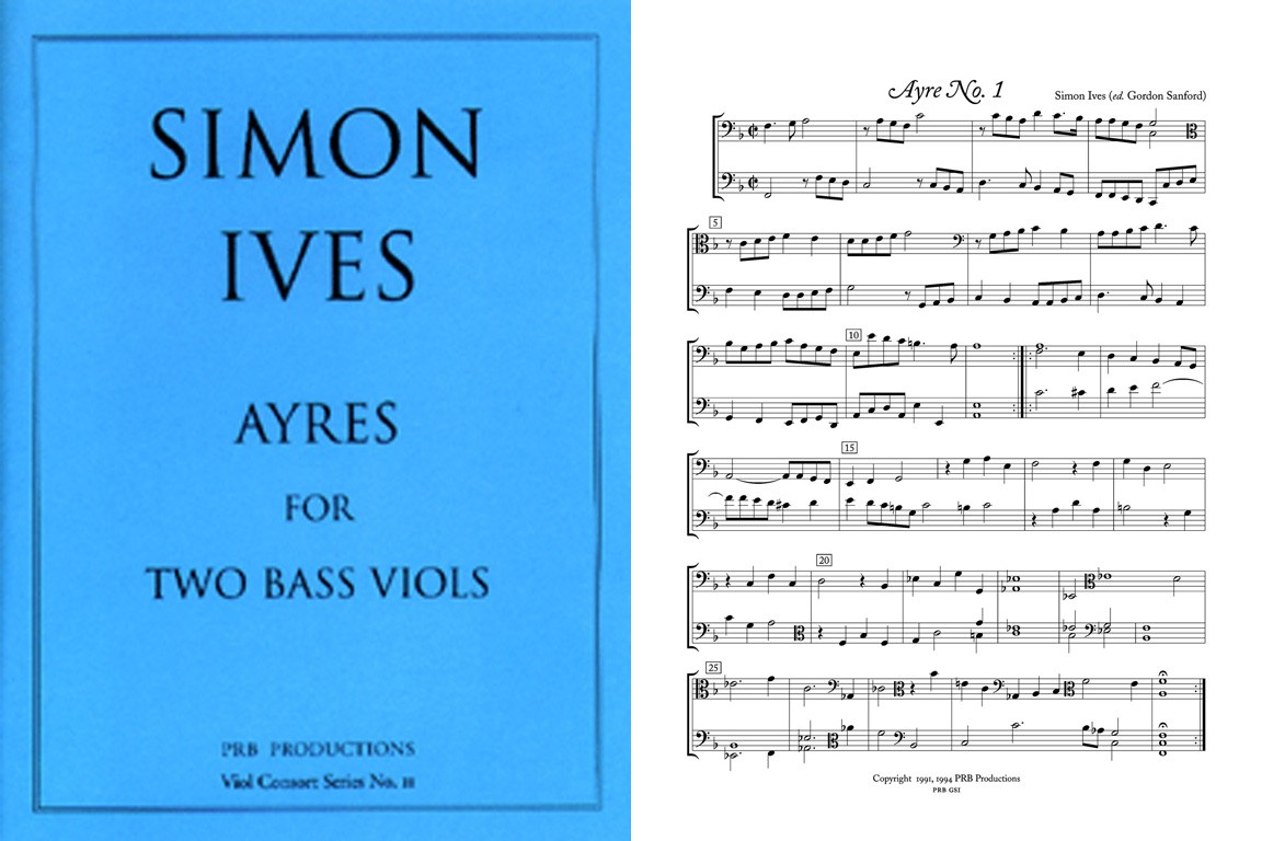 Nine Ayres for 2 Bass Viols (2 playing sc.)