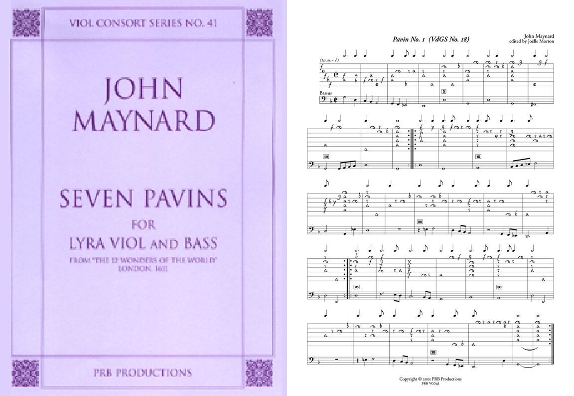 Seven Pavins for Lyra & Bass viols