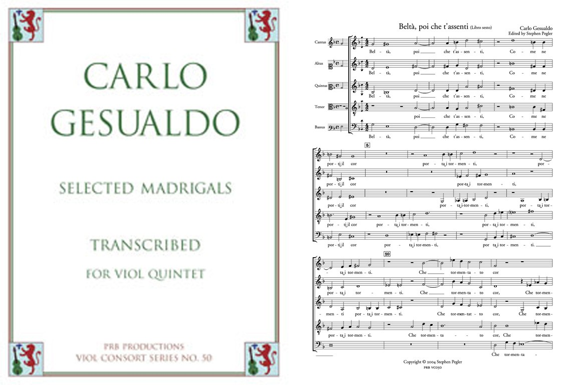 Selected Madrigals for 5 Viols, Score