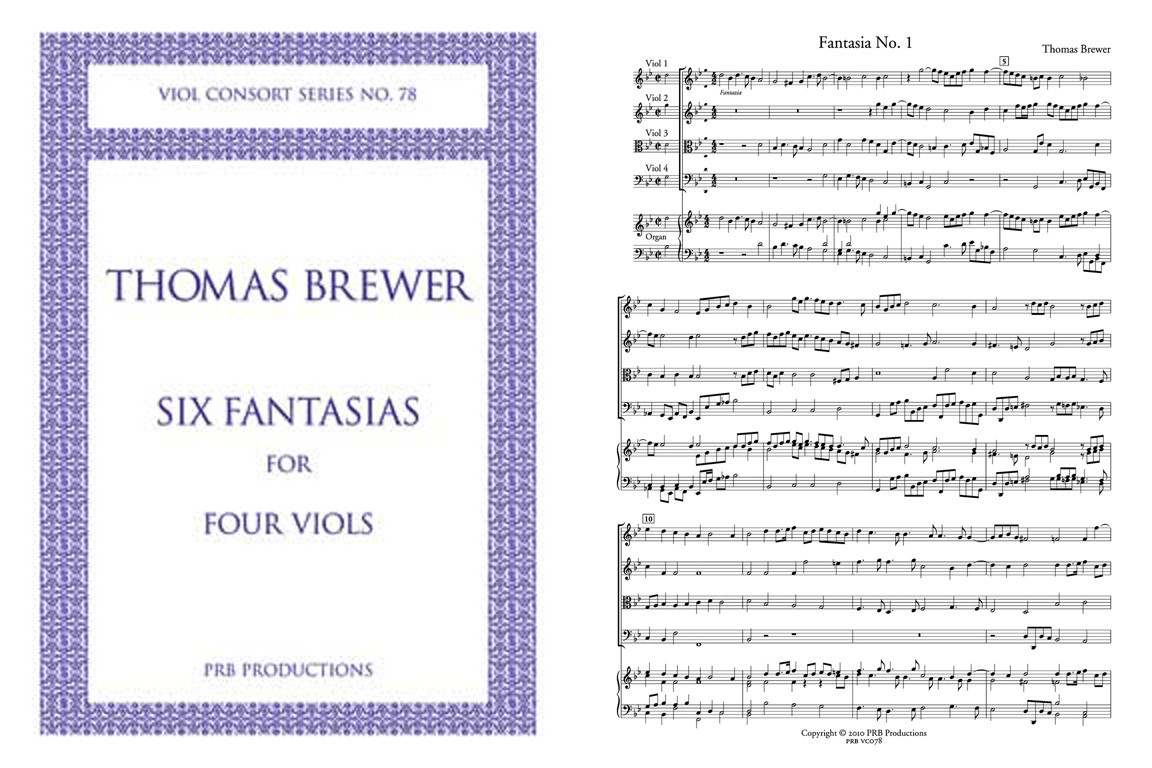 Six Fantasias for Four Viols: Score and Parts