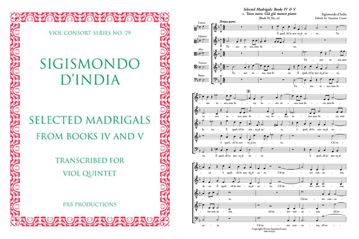 Selected Madrigals a5 (Viols and Voices): Score
