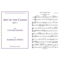 Art of the Canon, for Two Recorders