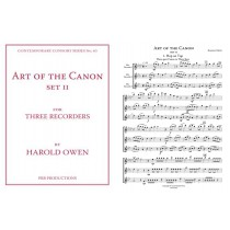 Art of the Canon, for Three Recorders