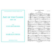 Art of the Canon, for Four Recorders