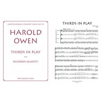 Thirds in Play for Recorder Quartet