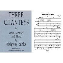 Three Chanteys (vln., clarinet, piano)