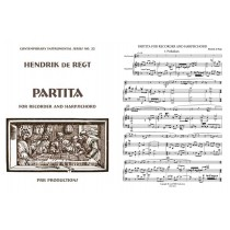 Partita for Recorder and Harpsichord: Sc. & Prt.