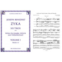 Six Trios: Bass Viol, Violin and Cello,  Vol. 1