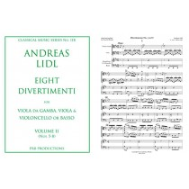 Eight Divertimenti for Viol, Viola and B.C. Vol II