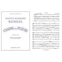 Canons and Fugues for Viol Quartet