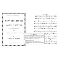 Twenty-five Tuneful Etudes for the Tenor viol