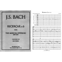Ricercar a6 from Musical Offering, Score & Pts.