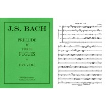 Prelude and Three Fugues a5, Score & Pts.