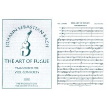 The Art of Fugue (arr. 2, 3 & 4 viols), Sc. & Pts.
