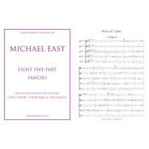 Eight Five-part Fancies transposed for low consort