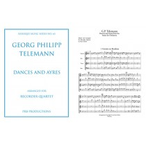 Telemann: Dances and Ayres for SATB recorders